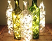 Upcycled Clear Glass Wine Light Bottle