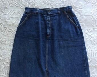 Vintage 1976  Sears Jean Skirt Size 13