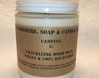 Camping Vegan Soy Wax Candle 8oz