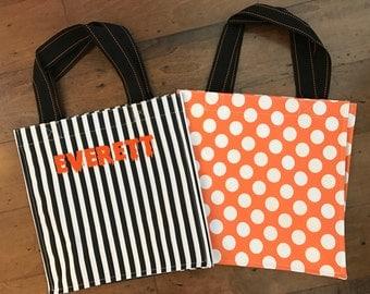 Halloween bag - Trick or Treat basket - Personalized Halloween tote - Trick or Treat bag - Personalized Halloween bag