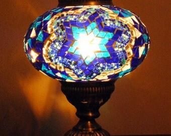Marmaris Blue- Handmade Turkish Table Lamp
