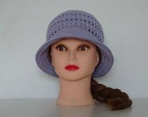 Lilac Crochet Hat 100% Cotton