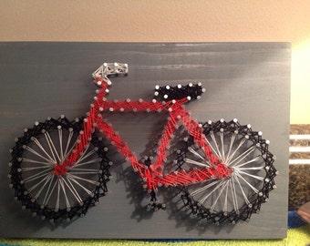 """Bike String Art: 6""""x9"""""""