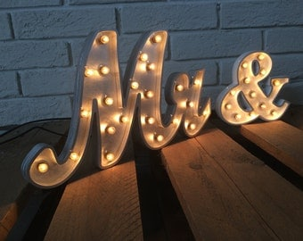 Mr And Mrs Letters Mrs And Mr Light Up Signs Photo Prop