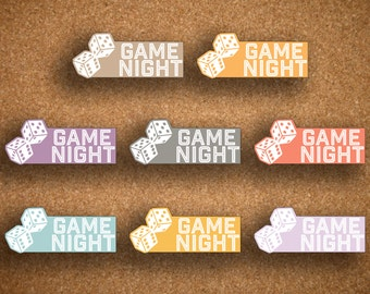 Inkwell Press Game Night Planner Stickers IWP-LGN1