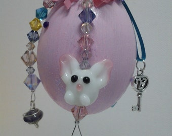Easter Bunny Ornament with Jelly Bean