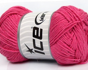 4 Pack Pink DK Worsted Natural Cotton Knitting Crocheting yarn