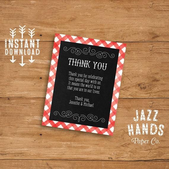 Printable I Do Bbq Thank You Card Or Insert Card Diy