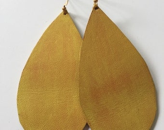 Large Yellow Drop Earrings