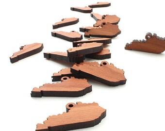State of Kentucky Charm Mini Wood Cutouts