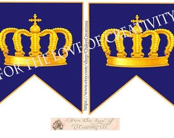 Royal Prince Baby Shower/Happy Birthday Banner - DIY Printable