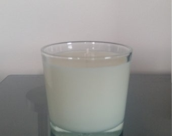 Mandarin and Mimosa scented natural soy candle