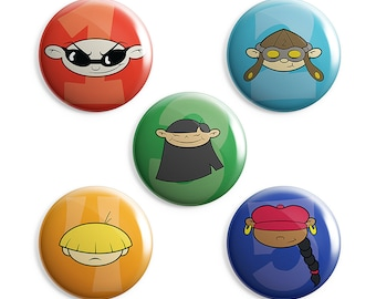 Codename Kids Next Door Pin - Cartoon Network, Number, Treehouse, Secret Agents, One, Two, Three, Four, Five, Clothes, Color