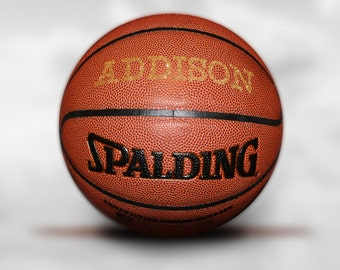 Customized Personalized Bling Dazzled Golden Basketball