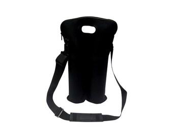 Black 4 bottle cylinder tote