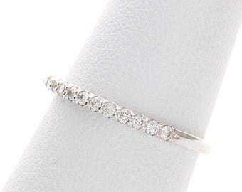 Wedding Band,Wedding Ring, Diamond Wedding Band, Diamond Wedding Ring. Diamond Stacking Ring in 14k White gold.