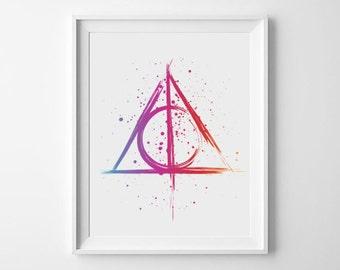 Harry Potter Deathly Hallows Symbol digital art print