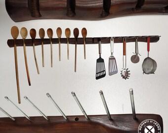 Door kitchen utensils