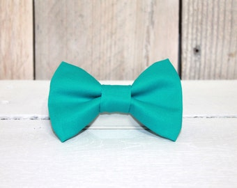Solid Turquoise Dog Bow Tie