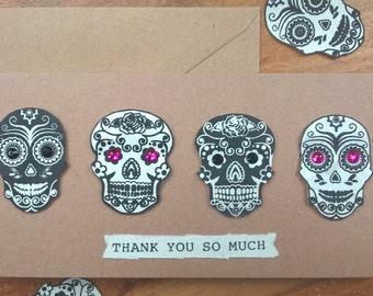 Thank you Sugar Skull card