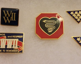 Military Lapel Pins Lot of 9