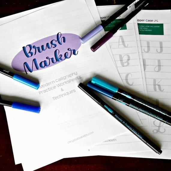 Brush marker modern calligraphy practice by chrystalizabeth