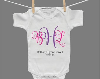 Personalized Infant Girl Baby Girl Baby Bodysuit