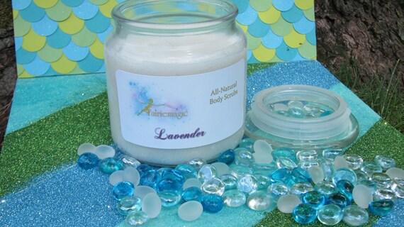 All Natural LAVENDER Sugar Scrub, Handmade by a Certified Esthetician 8 oz/16 oz