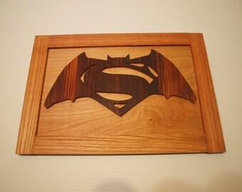 Batman Vs Superman symbol wall art
