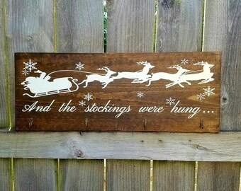 Stocking Hanger - Stocking Holder - Christmas Stockings - Santa's Sleigh - Christmas Decor - Kids Stockings - Family Stockings