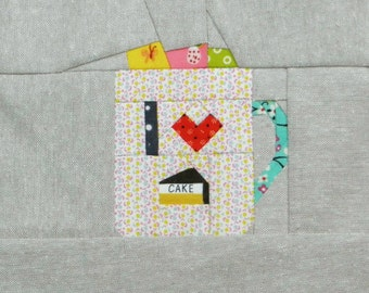 I Heart Cake, a paper piecing pattern