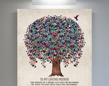 Memorial Plaque For Mother Weight of Heart Poem Tree Hummingbird Gift For Remembering Mum Custom Art Print Choose Paper Canvas Metal  #1242