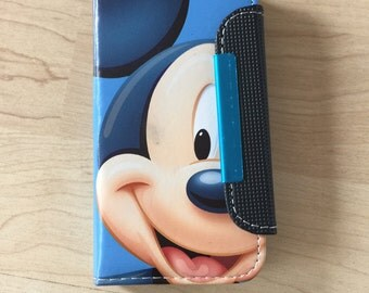 Disney Mickey Mouse PU Leather Case For iPhone SE / 5 / 5s Ship From NY