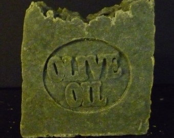 OLIVE OIL Handcrafted SOAP - 72% with French Green Clay (unscented) *