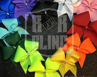Plain Cheer Bows // Big Bows // Team Bows // Big Cheer Bows // Cheer Camp // Sports Hair Bows // Cheer Bows Cheap // Softball Bows