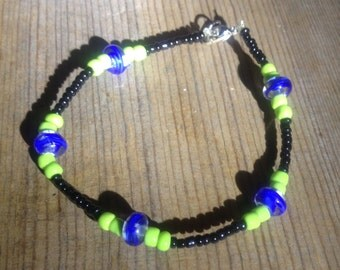 Handcrafted Glass Beaded Bracelet