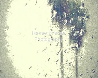 California rain abstract