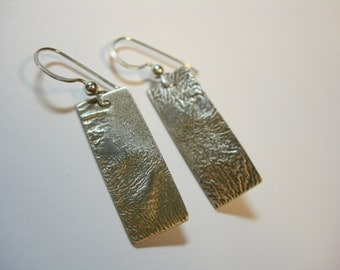Reticulated Silver Earrings with sterling silver earwires