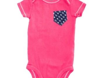 Pink Pocket Onesie