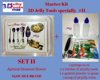Starter Kit 3D Jelly Tools specially Type 11 - Apricot blossom flower