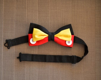 Disney Inspired Mickey Mouse Adjustable Bow Tie