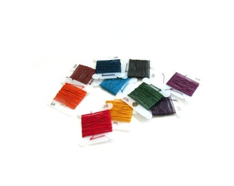 Sajou Fil au Chinois #532 Lin Cable Thread 10 color sample pack (3 meters each) - Colors