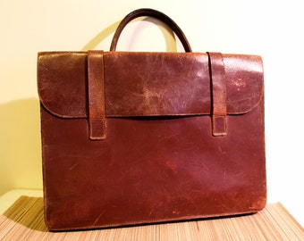Vintage leather briefcase from the 1980s