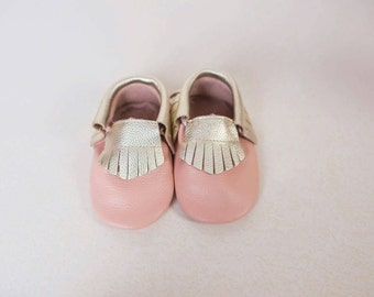 Two-tone Leather Moccasins (FREE SHIPPING)