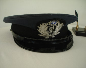 Greek Policemans Hat, Greek Hat, Greek Policeman Accessories, Policeman Hat, Cops Hat