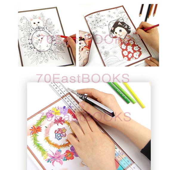 Colorful Jetoy Coloring Book For Adult Cat Illustration Colouring CHOO JETOY Korea