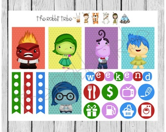 Weekly sticker set - inside out emotions - planner stickers