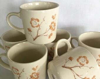 Vintage Set of 6 Corningware Coffee/Tea Cups SALE!!!