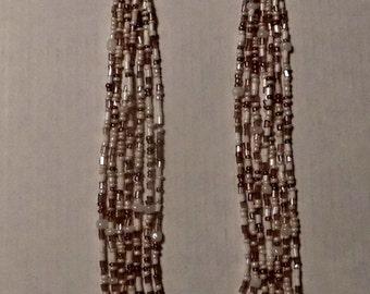 White multi strand necklace
