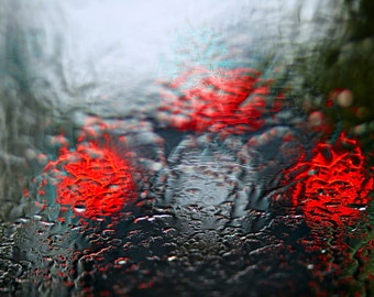 Silver,red- Photograph,Abstract, plexiglass